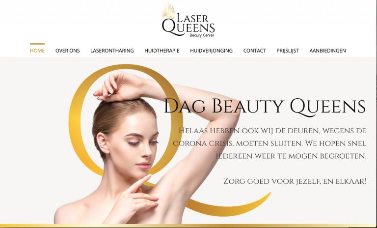 LaserQueens Beautycenter Website